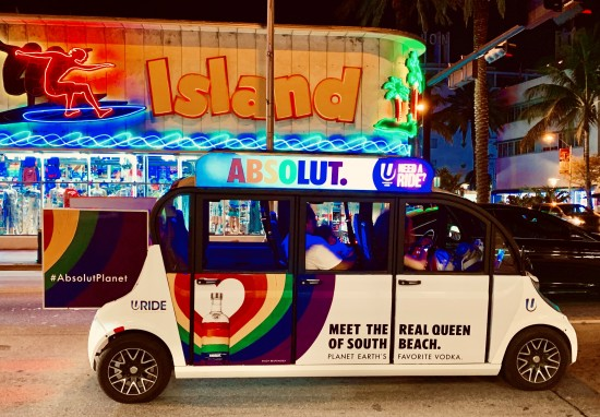 Miami beach - neon signs and colorful car - by mylilplace
